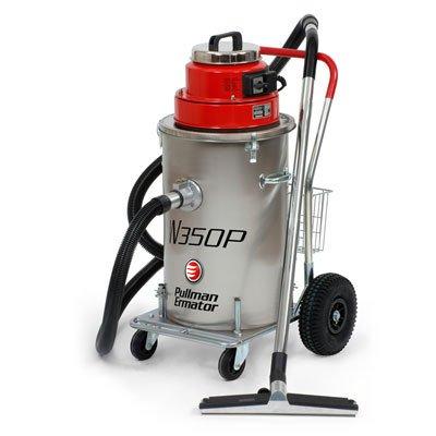 Våtsug m.pump < 70 l rostfri behållare