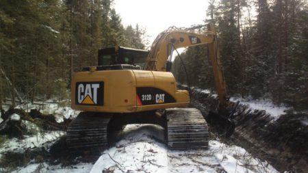 Grävmaskin 14000 kg