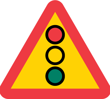 Vägskylt A22, Flerfärgssignal