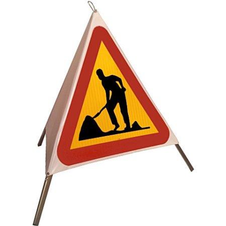 Varningstält A20 vägarbete (gubbe) inkl.väska
