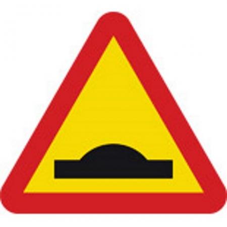 Varning för farthinder A9-1
