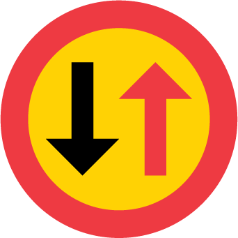 Väjningsplikt mötande trafik B6