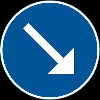Påbjuden körbana höger D2-1