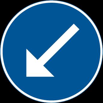 Påbjuden körbana vänster D2-2
